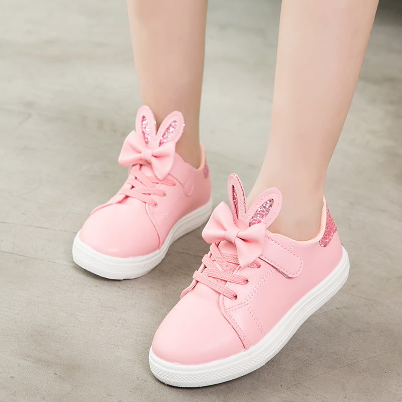 KRIATIV 2019 Summer Rabbit Ear Shoes For Girls Tenis Chaussure Enfant Kids Sneakers Girl Pink Casual Shoes Cute