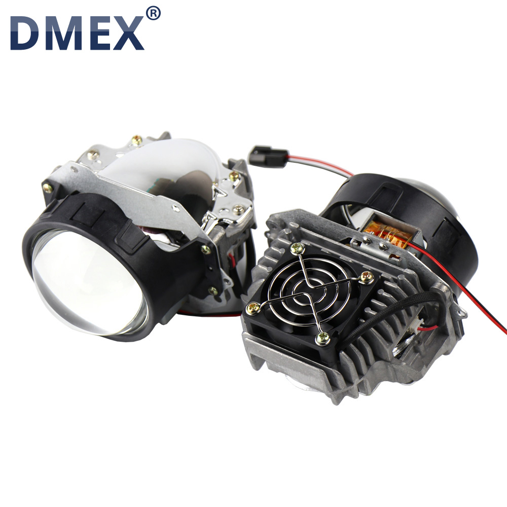 DMEX 2PCS 32W 4800LM 6000K White 3 0 inch E2 Bi LED Projector Lens HeadLight Light