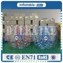 Free Shipping 0 8mm PVC Inflatable Bumper Bubble Soccer Balls Human Knocker Body Zorb Ball Bubble