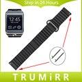 22mm faixa de relógio de couro genuíno cinta fivela magnética para samsung gear 2 r380 neo r381 live r382 pino de liberação rápida cinto pulseira