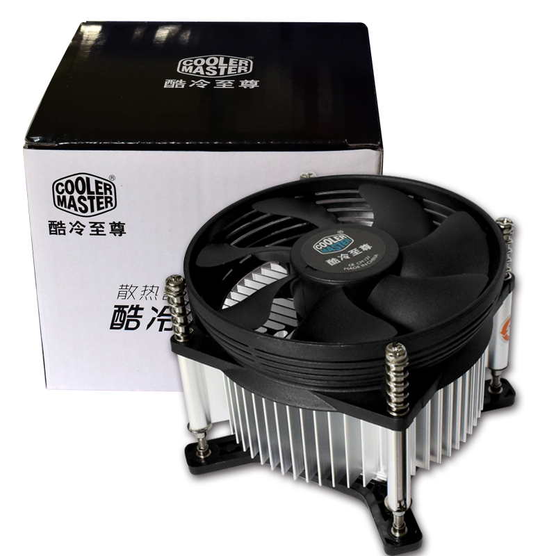 Cooler Master Multiplatform CPU cooler for Intel 478 775 115X AMD AM2 AM2+ AM3 FM1 CPU radiator 3pin cooling CPU fan PC quiet cooler master 240 cpu liquid cooler two 120mm quiet fan compatible intel 2066 115x amd am4 cpu water cooling fan cooler
