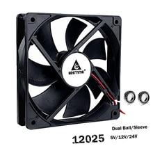 цена на 0.12A 1500RPM 120mmx120mmx25mm 12V 2 Pin 12cm PC Case 120mm DC Cooling Fan
