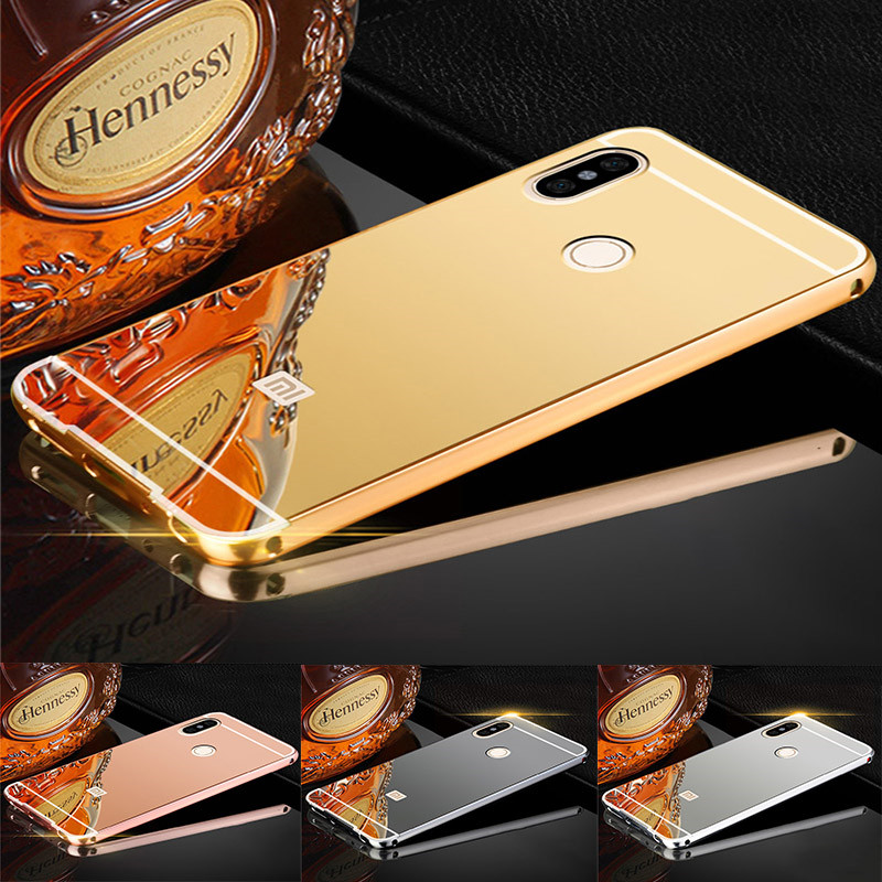 For Redmi Note 5 Pro Case 64GB Gold Mirror Aluminum Shockproof Back Cover Case for Xiaomi Redmi Note 5 Pro Global 5.99inch