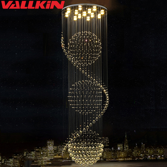 Modern Led Lustre Crystal Chandelier Lighting For Dining Living Room Candle Chrome Ceiling Chandeliers Lamp Indoor Light Fixture