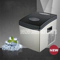Mini máquina de hielo 20kg/24h  máquina de hielo ZB-02 uso doméstico para tienda de té burbuja/café/Bar comercial 120W 110V / 220V