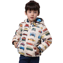 winter boys jackets cotton hooded coat cars character fashion outerwear children clothing