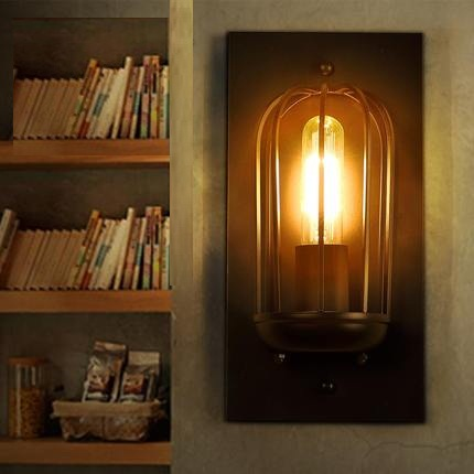 Loft Style Iron Vintage Wall Light Fixtures Industrial Wind Edison Wall Sconce For Stair Bedside Wall Lamp Indoor Lighting loft style edison decorative wall sconce mirror wall light fixtures vintage industrial lighting wall lamp for home lampara