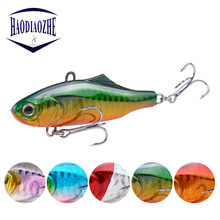 Купить с кэшбэком Winter Sea Hard Fishing Lure 7.5cm 22.5g VIB Bait With Lead Inside Diving Swivel Jig Japan Wobblers Vibration Crankbait Pesca