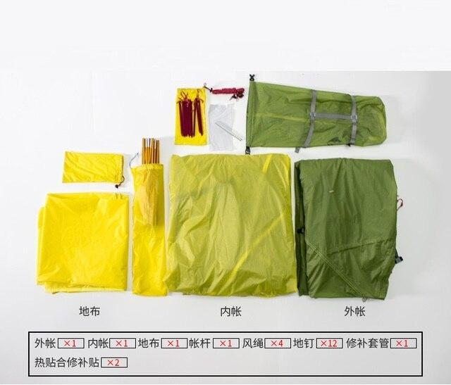 3F UL GEAR 3 Season Tent 15D Double Layer Waterproof 5