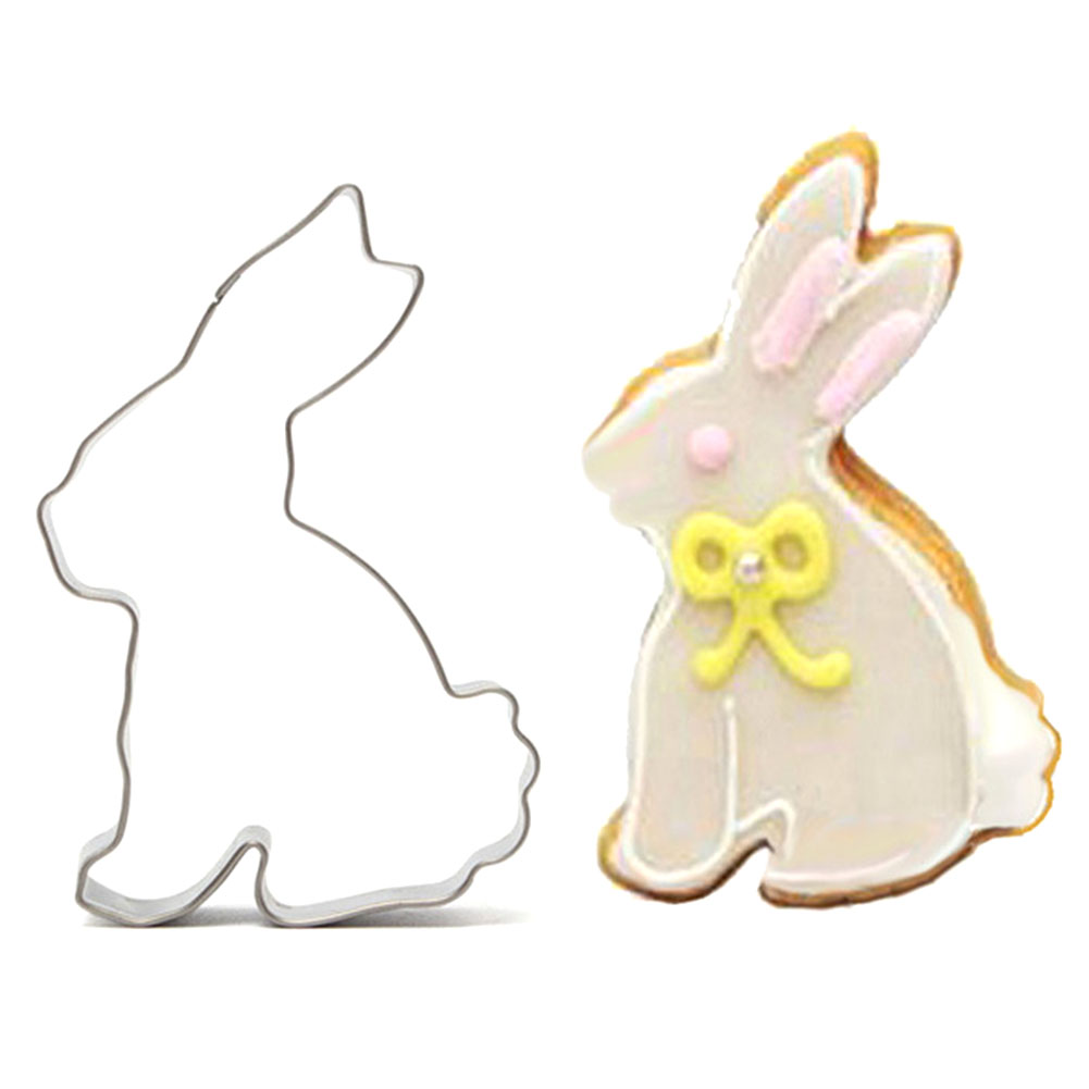 1PC/Lot Stainless Steel Rabbit Cookie Cutter Kitchen Baking Tools Cute Rabbit Biscuit Co ...