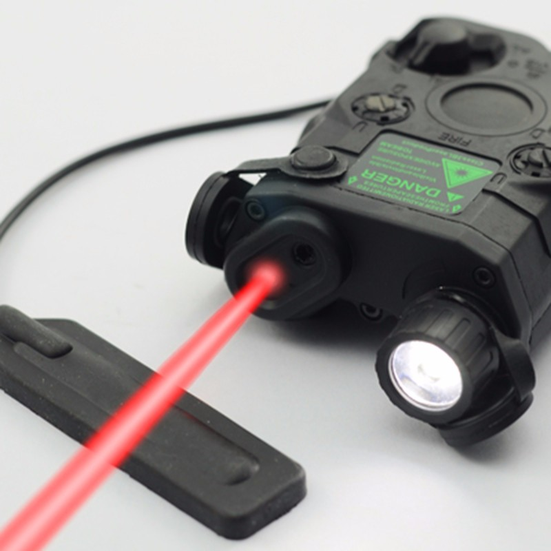 TBFMA AN PEQ 15 Red Dot Laser 3 Modes with White LED Flashlight and IR Lens