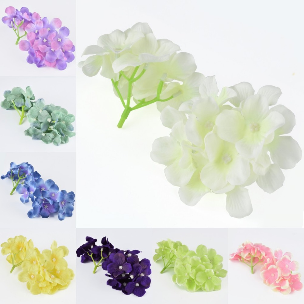 20pc 9cm Artificial Silk Flower Hydrangea Heads For Kissing Ball