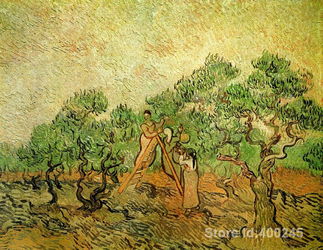 Paintings of Vincent Van Gogh Olive Picking art reproductions for sale High quality HandmadePaintings of Vincent Van Gogh Olive Picking art reproductions for sale High quality Handmade