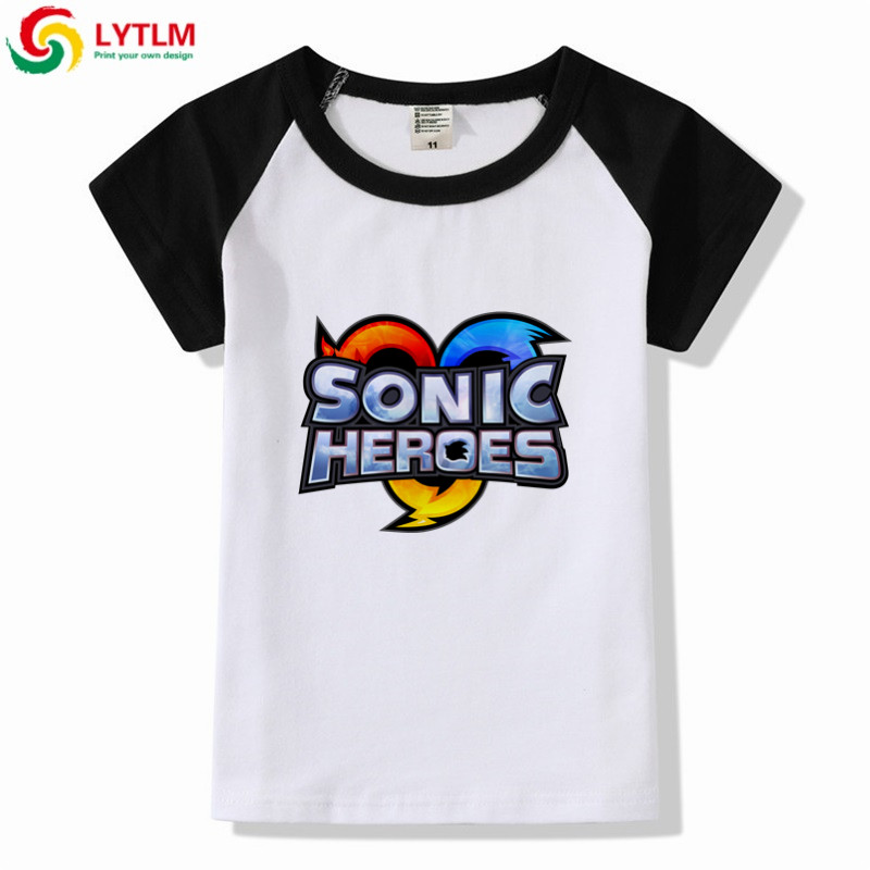 Lytlm Children Sonic The Hedgehog T Shirt Girls Summer Clothes For