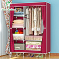 Tube thickening bold simple dustproof assembly and folding combination cloth wardrobe