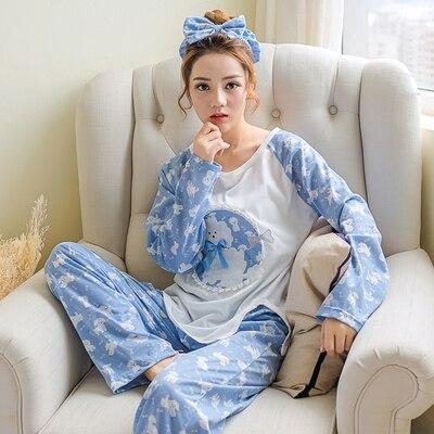 Dropwow Factory wholesale spring autumn women Pajamas Set long ... 0053036b7