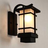 Открытый свет Китайский Открытый Бра Европейский напольный светильник водонепроницаемый гладить Ретро японский гостиная проход бра fg224