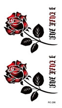 RC2296 Sexy Waist Shoulder Water Transfer Tattoo Decal Waterproof Temporary Tattoo Sticker Black Gold Rose Fake Tattoo
