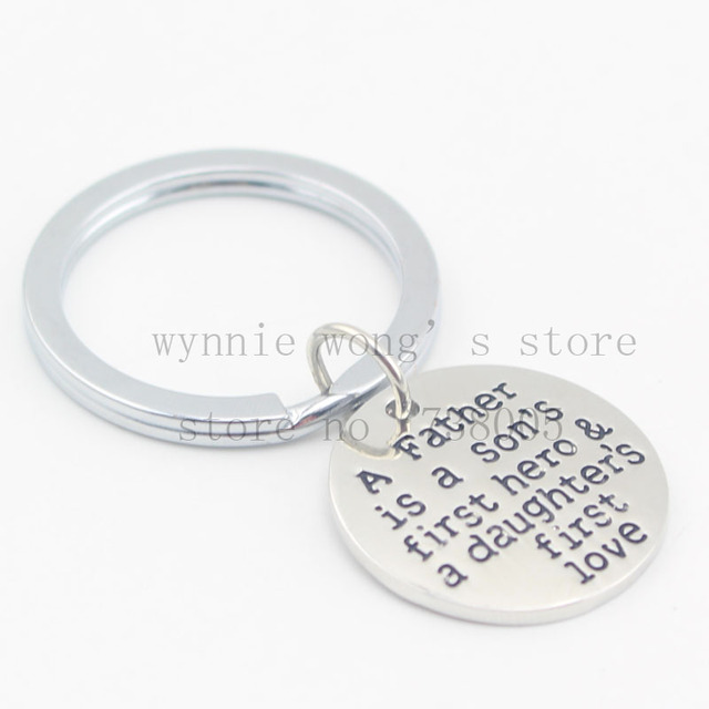 2016 Gift For Dad A Father Is Sons First Hero Daughters Lovenecklace New Fathers Day