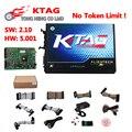 Venta caliente KTAG K-tag ECU que programa Master tool Versión V2.10 Hardware 5.001 K TAG V2.10 Herramienta Tunning de la Viruta Envío Gratis
