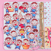 18Pcs/Packs Cartoon Cute Character Emoticon Sticker Mobile Photo Album Hand Account Diy Decorative Stickers Scrapbooking