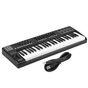 Image 5 - PANDA49 49 Key MIDI Keyboard  MIDI Control USB Controller MIDI Keyboard 8 Drum Pads with USB Cable White or RGB Light Backlit