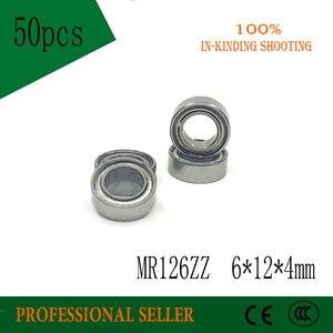 Бесплатная доставка 50 шт. высокое качество mr126zz L-1260ZZ 6x12x4 мм ABEC-3 P6 глубокий шаровой подшипник MR126-2Z