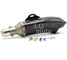 Motorcycle exhaust pipe muffler scooter exhaust for honda cb599 cb600 cb919 02-07 cbr600 91-07 vtx1300 03-08 nc700 12-13