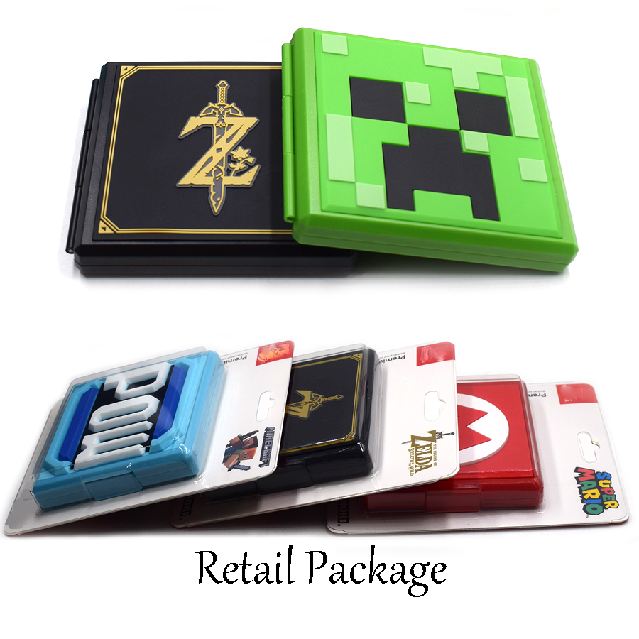 Image 3 - Nintend Switch NS Accessories Portable Game Cards Storage Case Nintendos Switch Hard Shell Box for Nintendo Switch Games-in Bags from Consumer Electronics