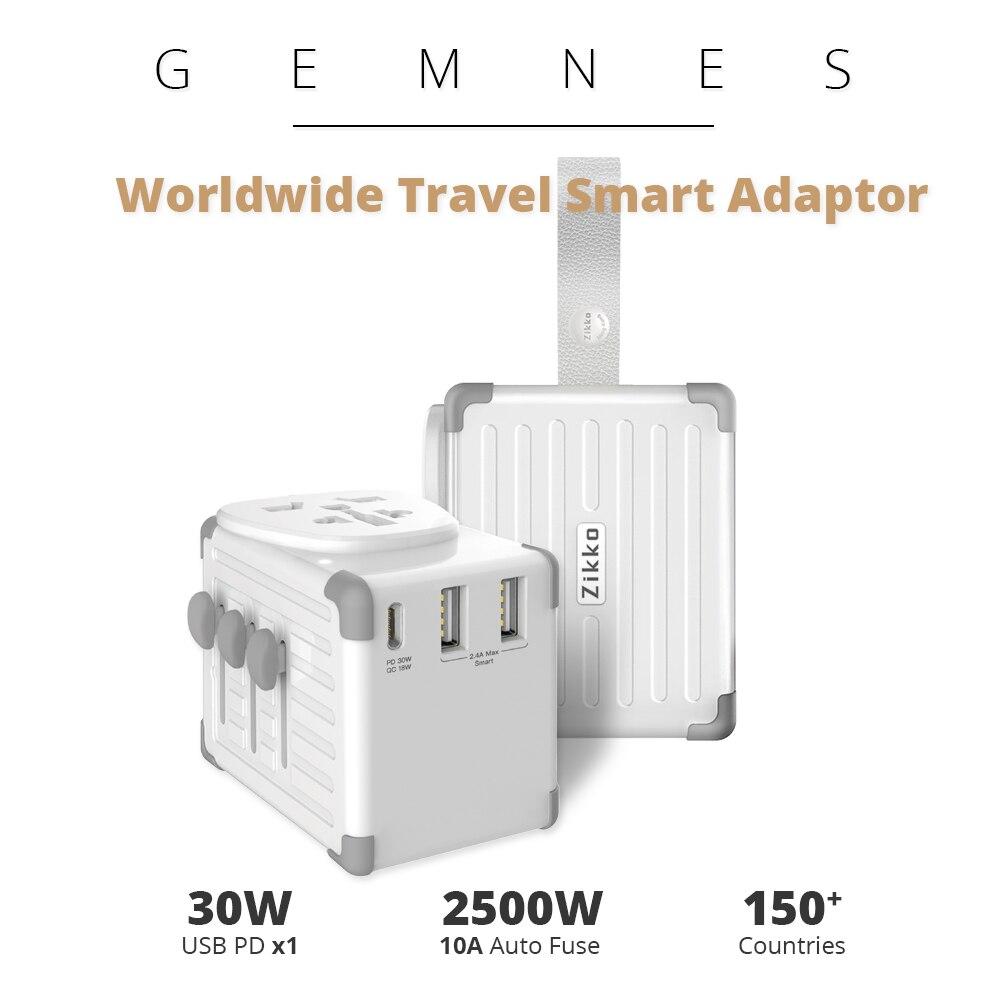 42 W USB C PD Type C chargeur de voyage intelligent dans le monde entier 4000 W adaptateur International prise EU US UK AU prise pour téléphone iPad