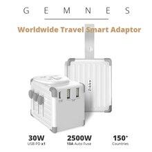 42W USB C PD Type C Worldwide Smart Travel Charger 4000W International Adapter Socket EU US UK AU Plug for Phone iPad