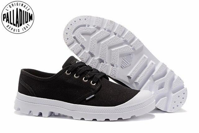 5d6905693de PALLADIUM Pampa Oxford black and white Flats Men Casual Shoes Men Zapatos  de hombre Eur Size 39-45