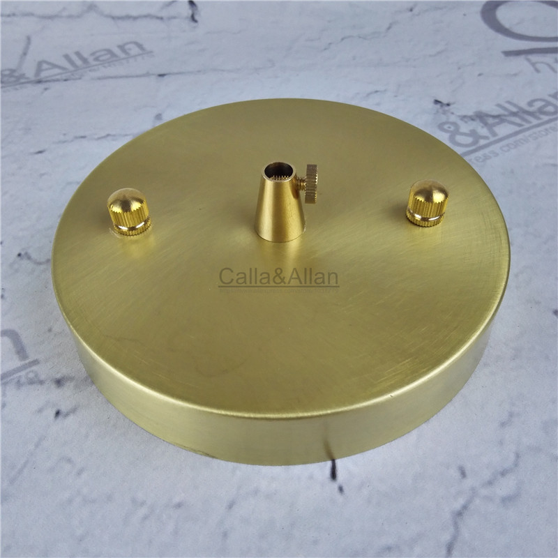 sample order D120mm*H20mm brass material ceiling plate DIY pendant light canopy copper ceiling mount brass base 2 4 10pcs set diy parts edison light pendant lamp part of the ceiling plate d68mm small iron canopy diy pendant ceiling mount