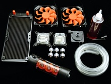 graphics card water cooled head virus water tank LED fan package