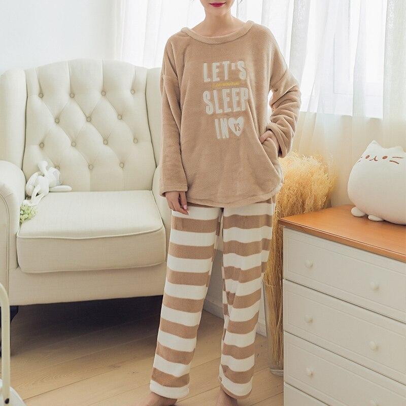 87f7e14411 MCCKLE 2018 Autumn Winter Women Pajamas Set Sleepwear Kawaii Cartoon Animal  Warm Home Clothes Nightgown Female Two Piece Pajamas-in Pajama Sets from ...