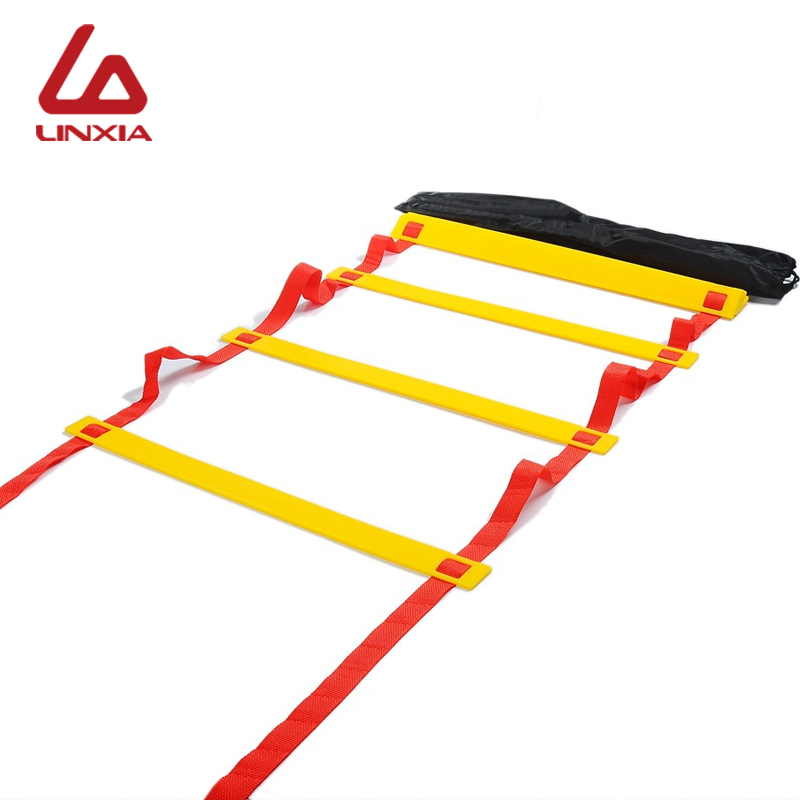 2019 Soccer Ball Training Ladders 5 Style 6/8/10/12/20 Rung Nylon Straps Football Ball Ladder Equipment Agility Speed Ladder