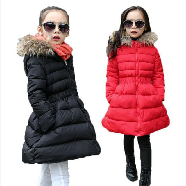 9c3982c75 2017 fashion children long winter jacket girl thick warm park girl ...