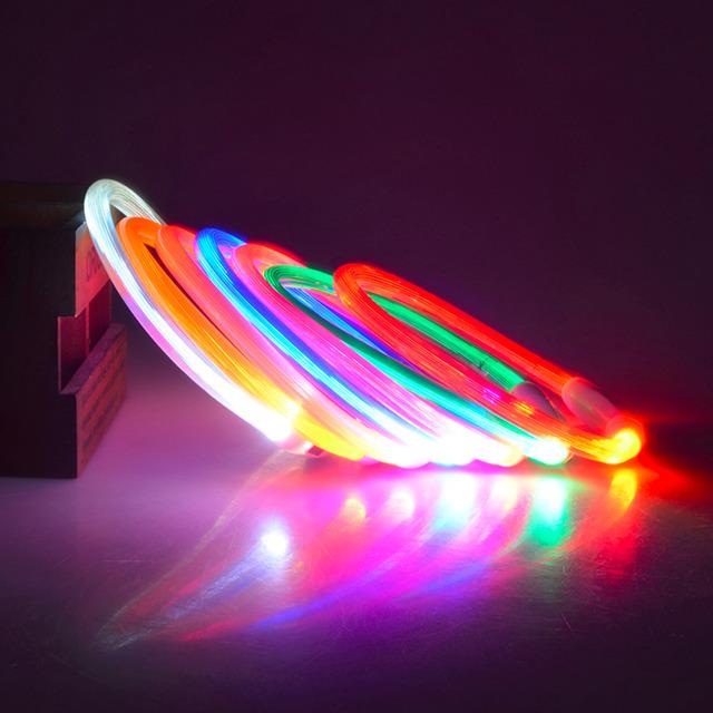2016 Popular USB Luminous Dog Pet LED Collar Flashing Light USB Charging Collars Flash Night Safety Pet Supplies Chain Necklace