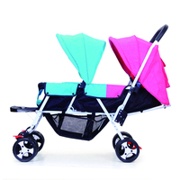 Twin baby stroller double stroller baby pram can sit reclining