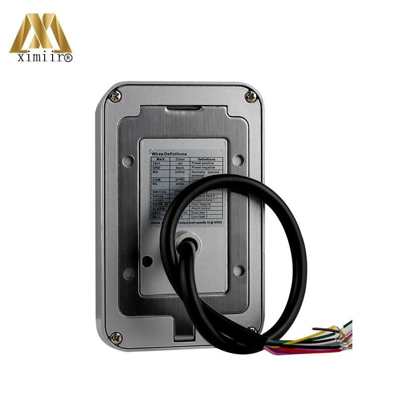 Controlador de acceso único 12V DC impermeable independiente 13,56 MHz MF lector de tarjetas M07 C Control de acceso - 4
