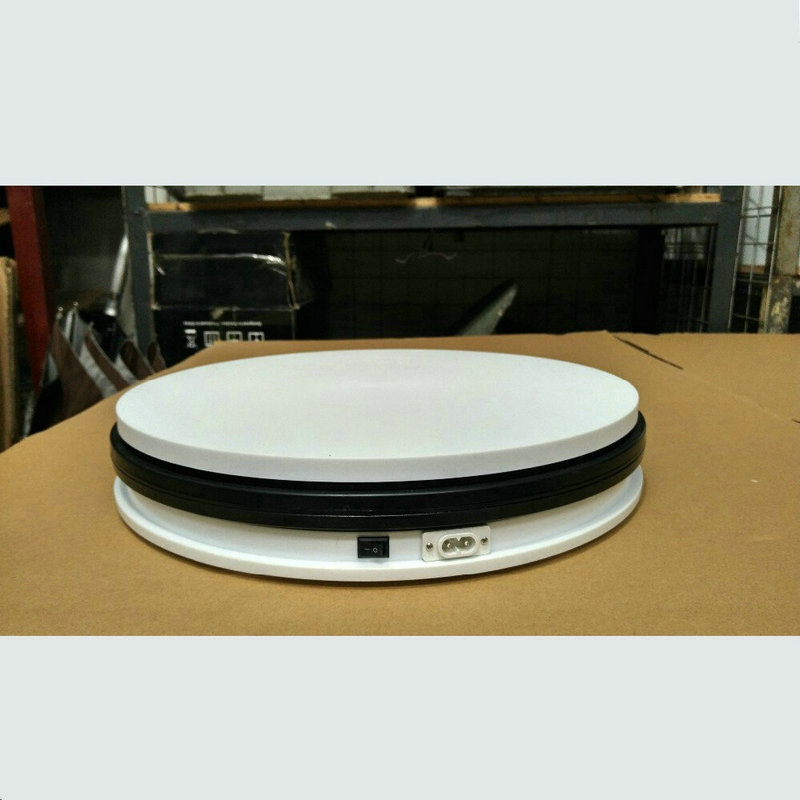 250X60MM Electric Turntable Display Stand 360 Swiveling Plateform 20/35/60/120 Secs Per Circle Electric Rotary Displayer 3 speed change remote and manual control 60 90 120 secs circle 60x10cm electric turntable display stand rotary model show