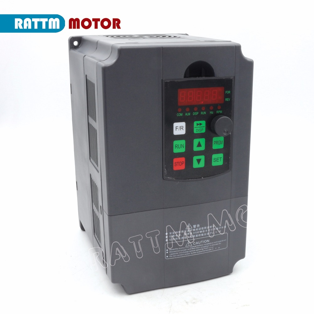 EU Delivery 7 5kw 220V Spindle inverters Vector Control Frequency Converter 3 phase