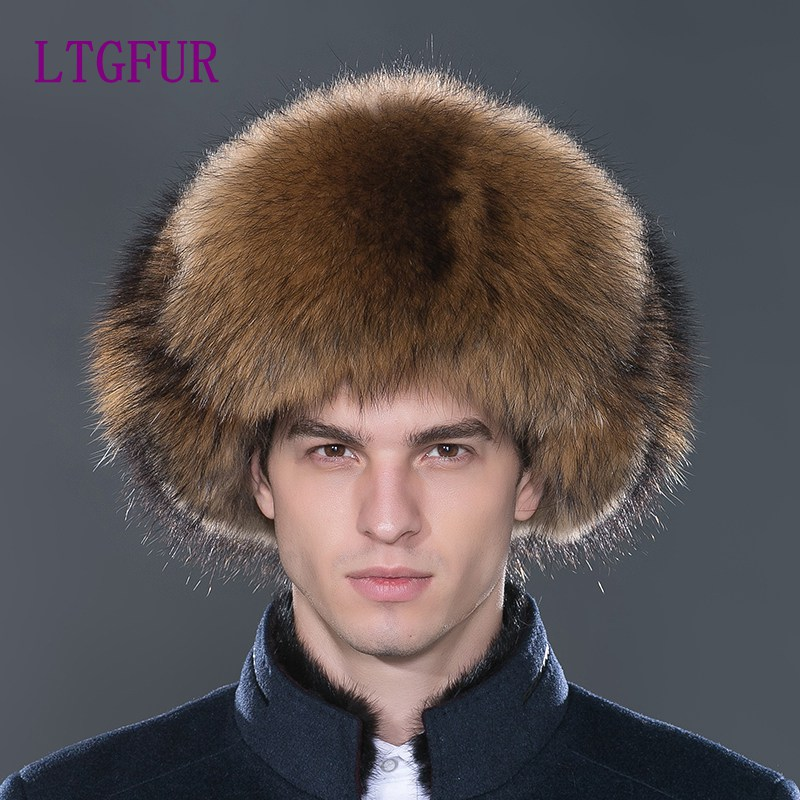 4077a092f1e Detail Feedback Questions about LTGFUR2017 Warm Winter Hats For Men Real Fur  Hat Hot Sale Bomber Caps Aviator Snow Cap With Ear Flaps Russian Hat NHL 01  on ...