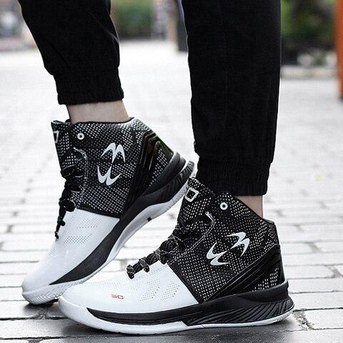 Basketball Shoes Men Women Sports Shoes High Tops Mens Basketball Sneakers Athletics Shoes Chaussures de basket Black shoes Lahore