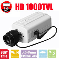 Vanxse CCTV 3 5 8mm Auto IRIS Varifocal Zoom Lens 1 3 SONY Effio CCD 1000TVL