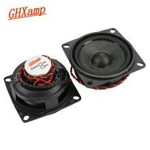GHXAMP 2 inch Mid Tweeter Speaker 6ohm 10W Neodymium Bluetooth Speaker DIY Bullets Midrange Treble Loudspeaker Rubber Edge 2PCS