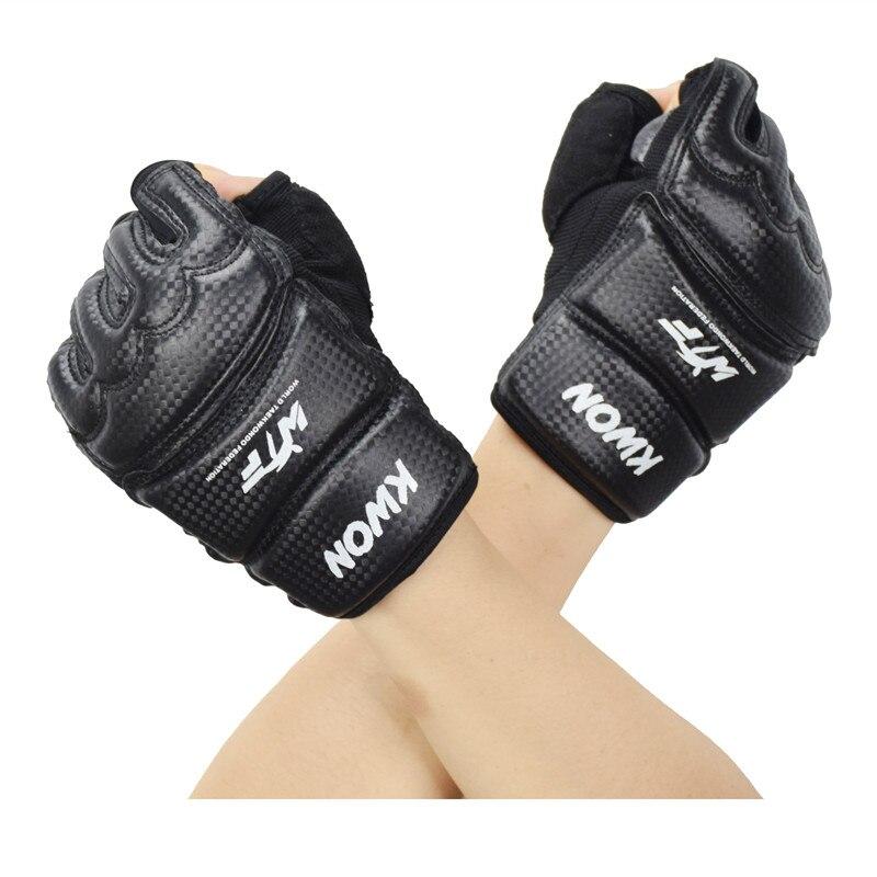 Mezze Dita Per Bambini/Adulti Guanti Sacchetto di Sabbia Punch Training Kick Boxing Sanda/Karate/Muay Thai/Taekwondo Protettore