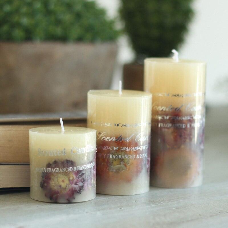 Le parfum naturel de chrysanthème bougies parfumées romantique mariage créatif anniversaire bougie sans fumée fournitures de mariage 3 s