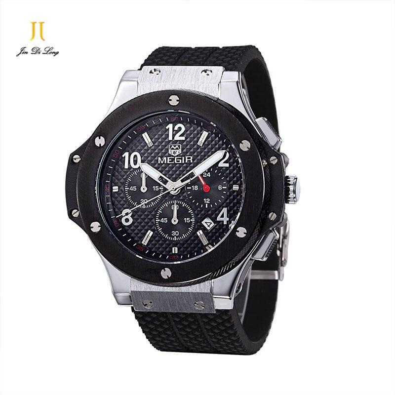 Mode hommes montres Top marque de luxe véritable bracelet en Silicone montres à Quartz hommes décontracté Sport montre-bracelet