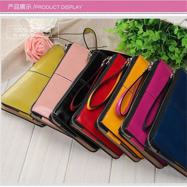 Candy Oil Leather Wallets 5